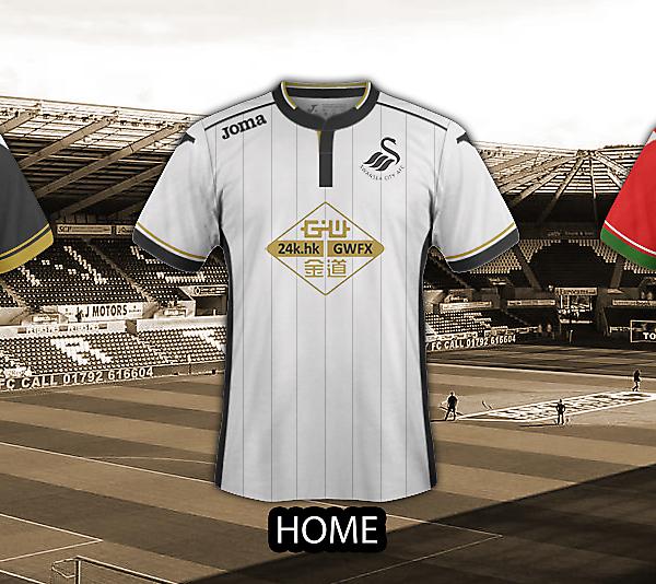 Swansea kits - Joma - 2016/2017