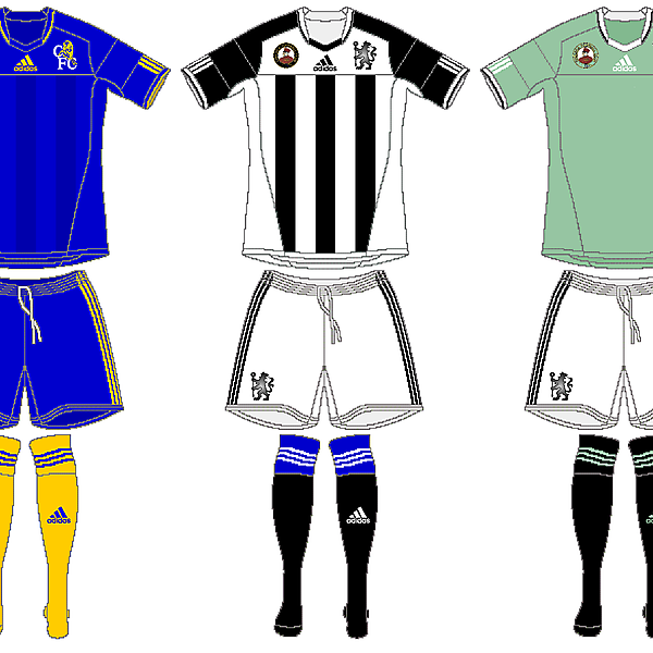 Chelsea Adidas Home, Away and Third