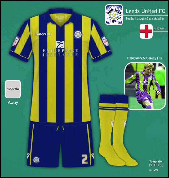 Leeds United FC away inspired on 93-95 kit.