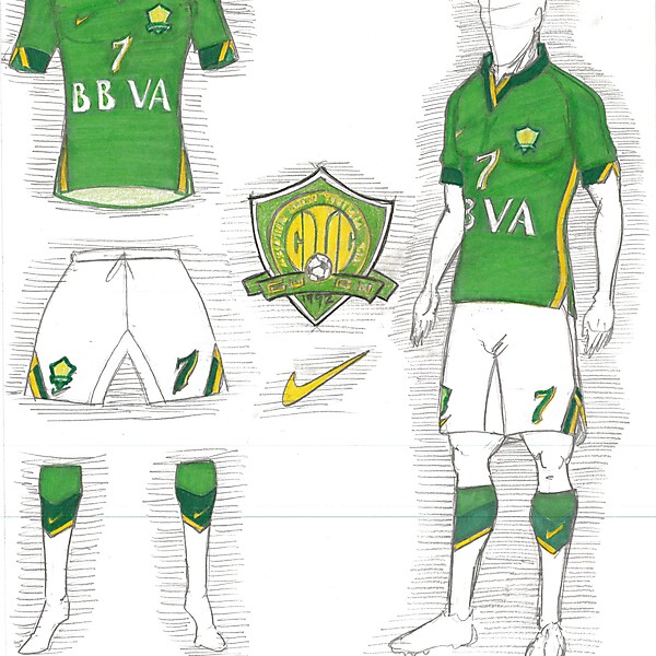 Beijing Guoan - Home Kit - 2014 ACL Tournament - Round of 16
