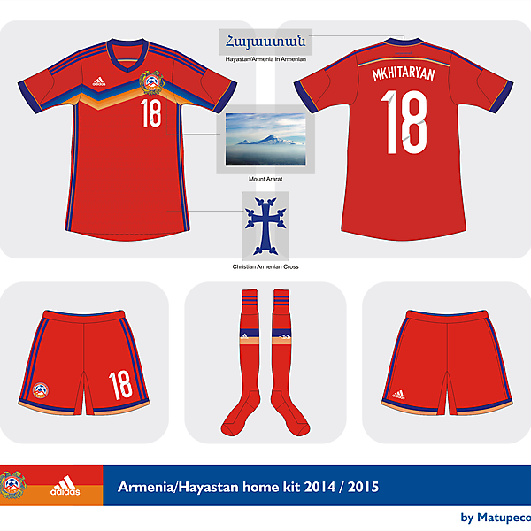 Armenia home kit 2014/2015