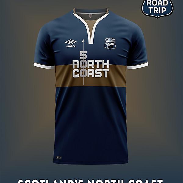 North Coast 500 soccer shirt concept