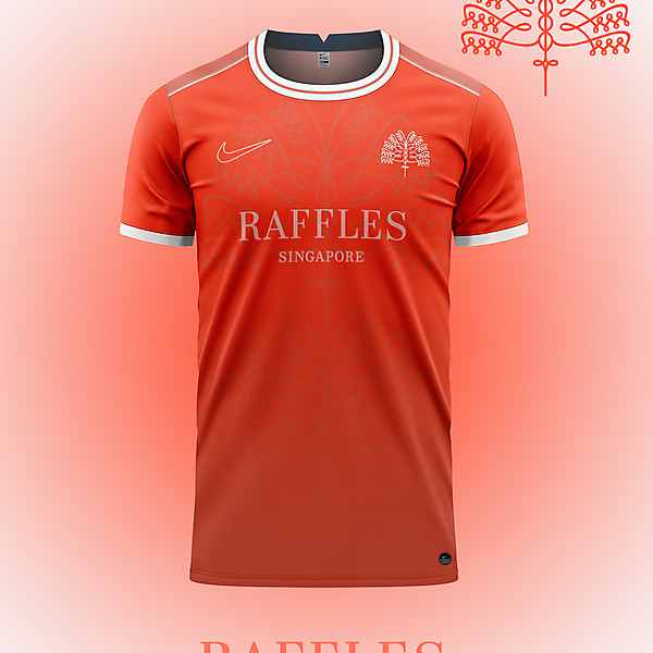 Raffles Hotel concept in Singapore Sling Red.
