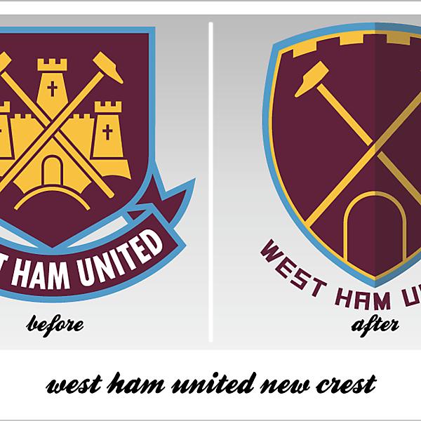 wesy ham united new crest