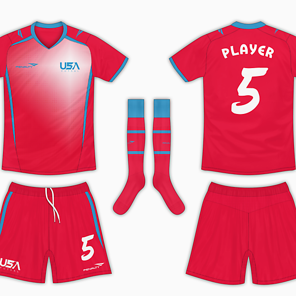 USA Futsal Away Kit - Vibrant Colours