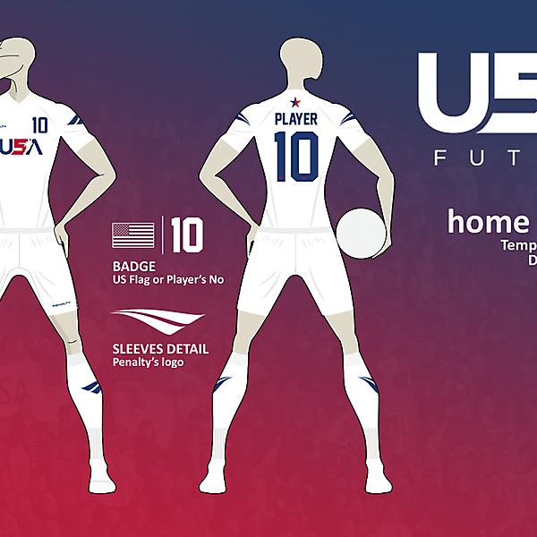 USA Futsal home kit v02