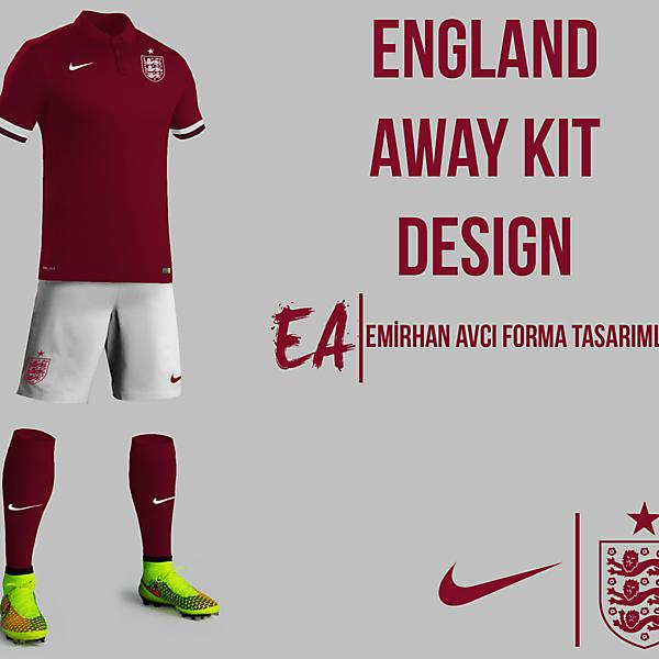 England Away Kit Design