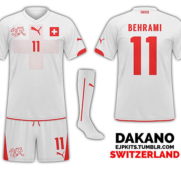 Switzerland Away