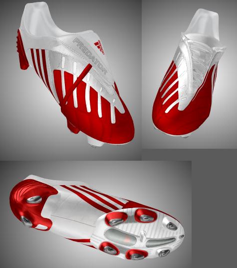 Adidas Predator Power Swerve Scarlet/White