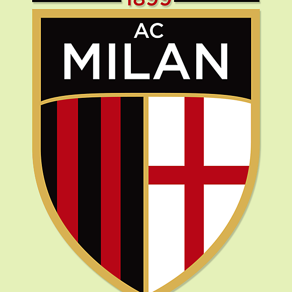 AC Milan - Modernised crest concept