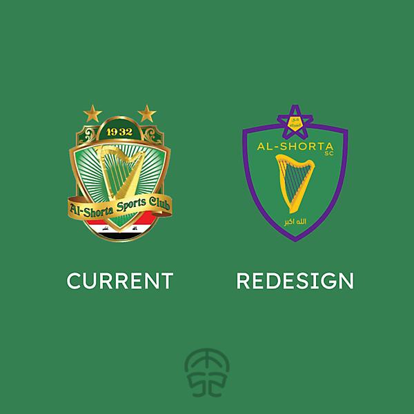 AL-SHORTA SC logo redesign