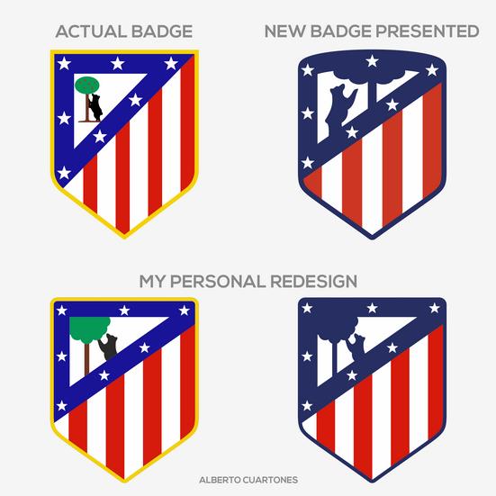 Atlético de Madrid Badge Redesign v.2