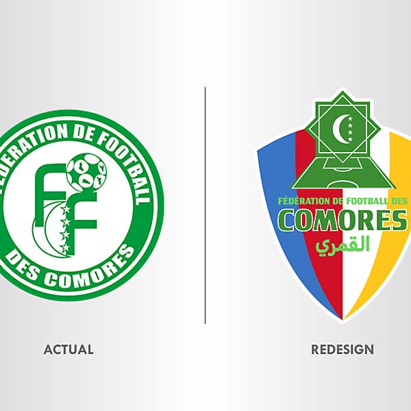 Comoros Football Team Crest Redesign