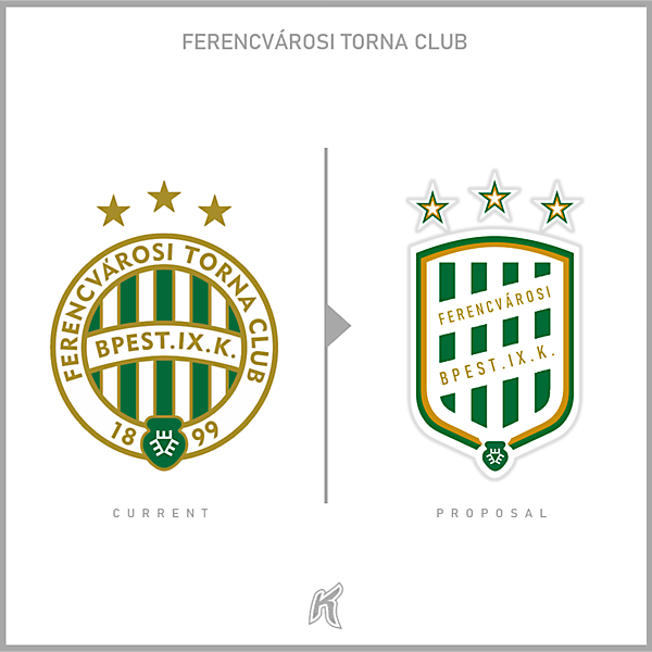 Ferencvaros TC Logo Redesign