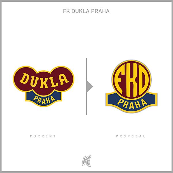 FK Dukla Praha Logo Redesign