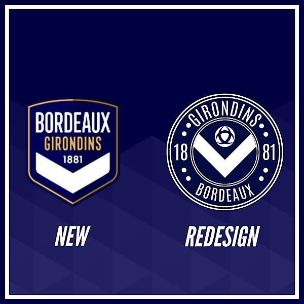 Girondins de Bordeaux Crest Redesign Comparison