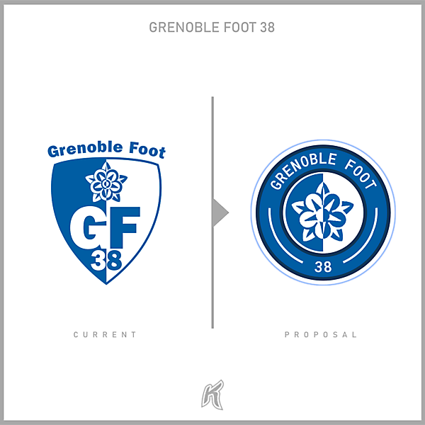 Grenoble Foot 38 Logo Redesign