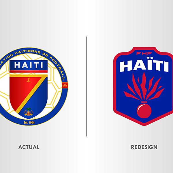 Haiti Football Team Crest Redesign