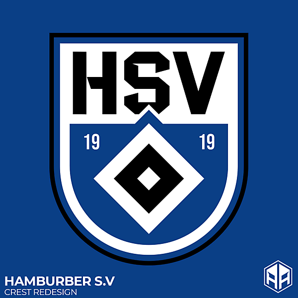 Hamburger S.V crest redesign