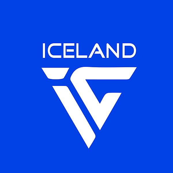 ICELAND LOGO concept font