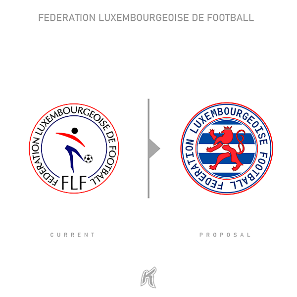 Luxembourg National Team Logo Redesign