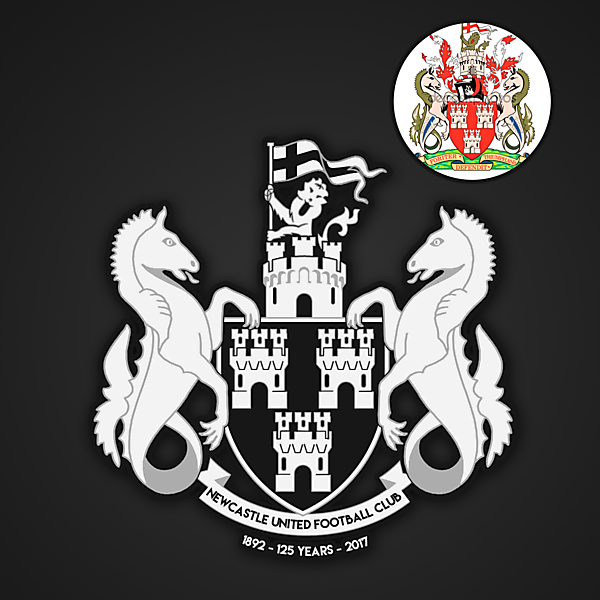 Newcastle 125-year Anniversary Crest