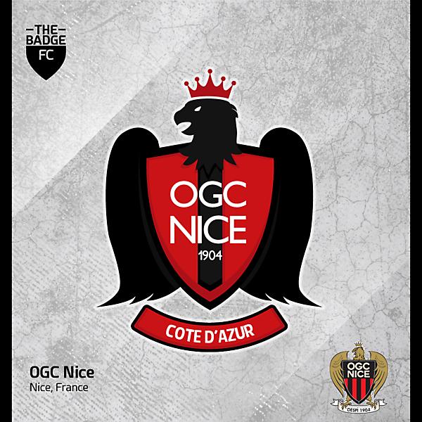 OGC Nice Badge Redesign Concept
