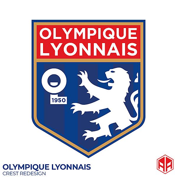 Olympique Lyonnais crest redesign
