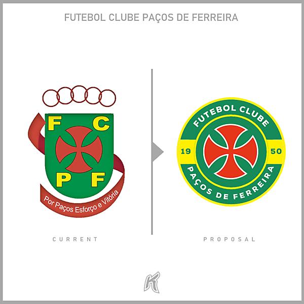 Paços de Ferreira Logo Redesign