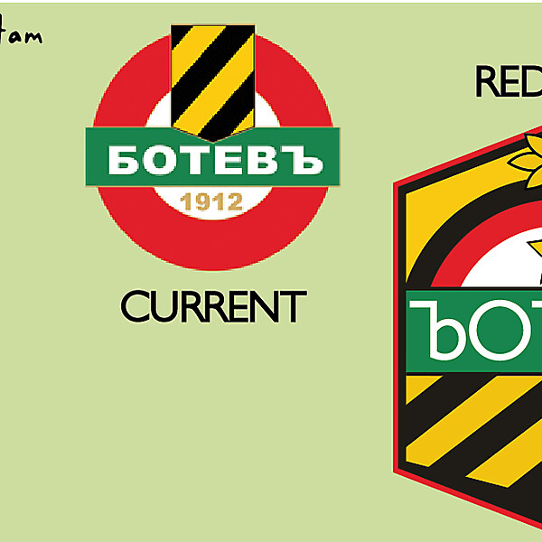 PFC Botev Plovdiv 1912 Redesign Crest Logo