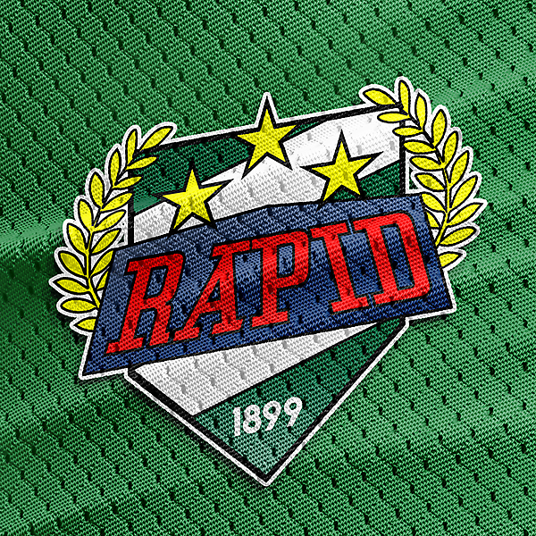 rapid wien crest on jersey