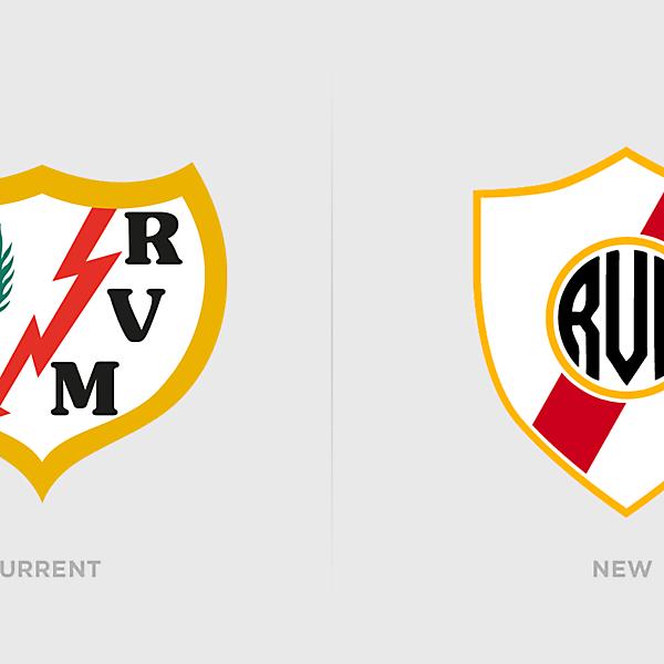 Rayo Vallecano Logo Redesign