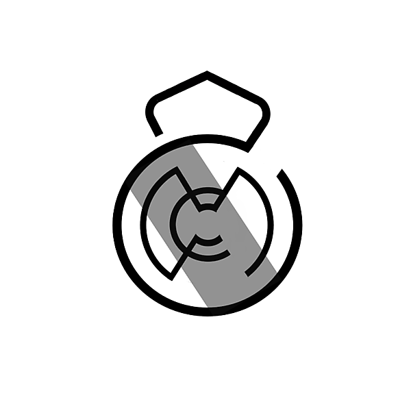 Real Madrid (logo concept BlackAndWhite)