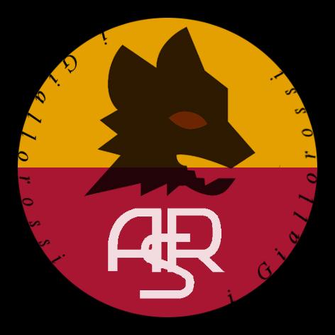 AS Roma i Giallorossi Black Shield