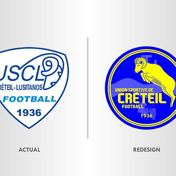 Union Sportive Créteil Crest Redesign