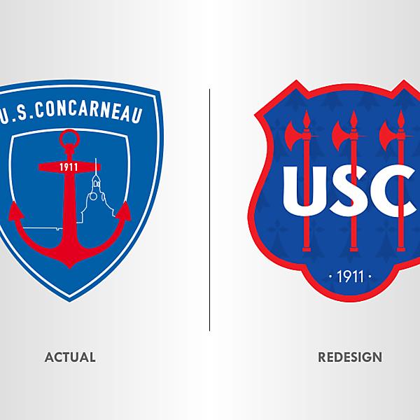 US Concarneau Crest Redesign