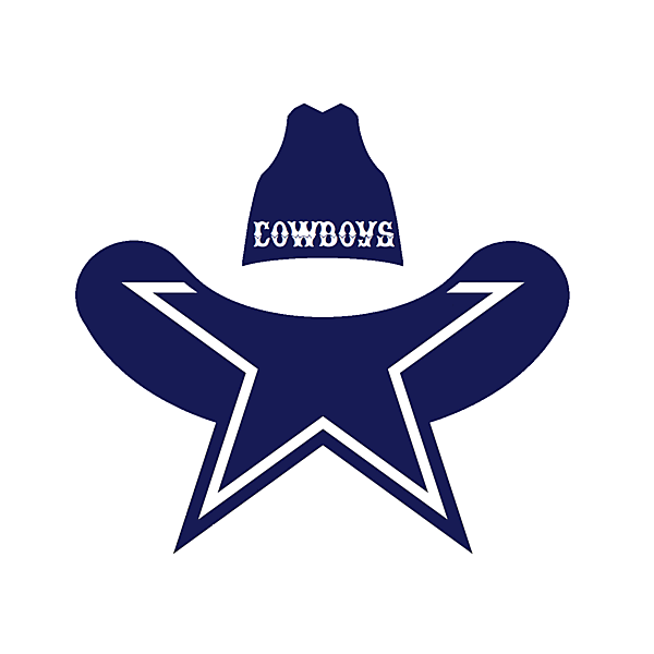 What if the Dallas Cowboys were a soccer team, upgrade on their current iconic star logo.