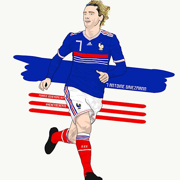 2018 France Home Kit (feat. Antoine Griezmann)