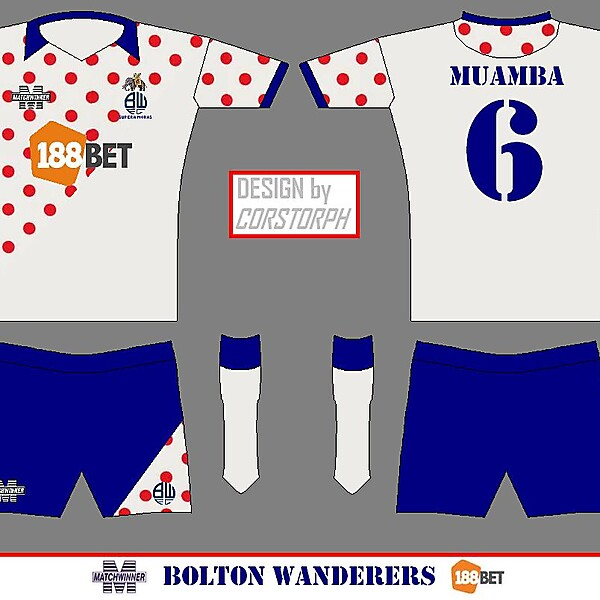 Bolton Wanderers Matchwinner Home Kit