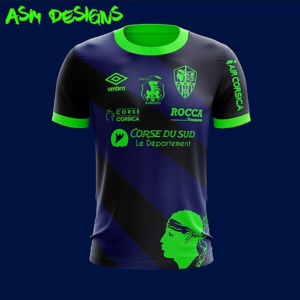 AC Ajaccio Umbro 2018 Home Kit