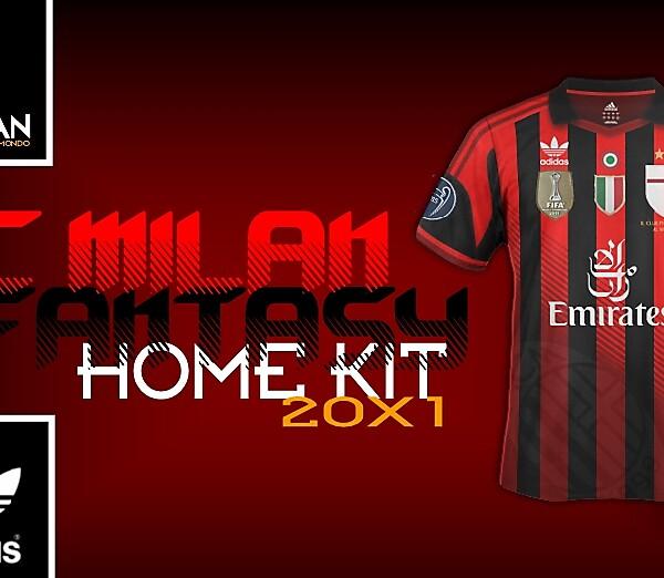 AC Milan - Adidas Fantasy Home Kit (concept) [20X1]