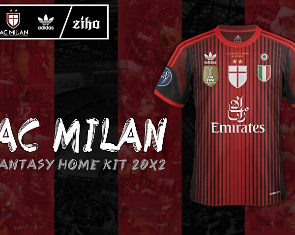 AC Milan - Adidas Fantasy Home Kit (concept) [20X2]