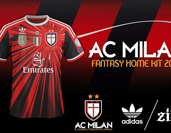 AC Milan - Adidas Fantasy Home Kit (concept) [20X3]