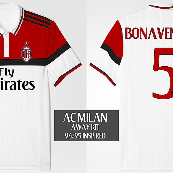 AC Milan Away Kit 94/95 Inspired