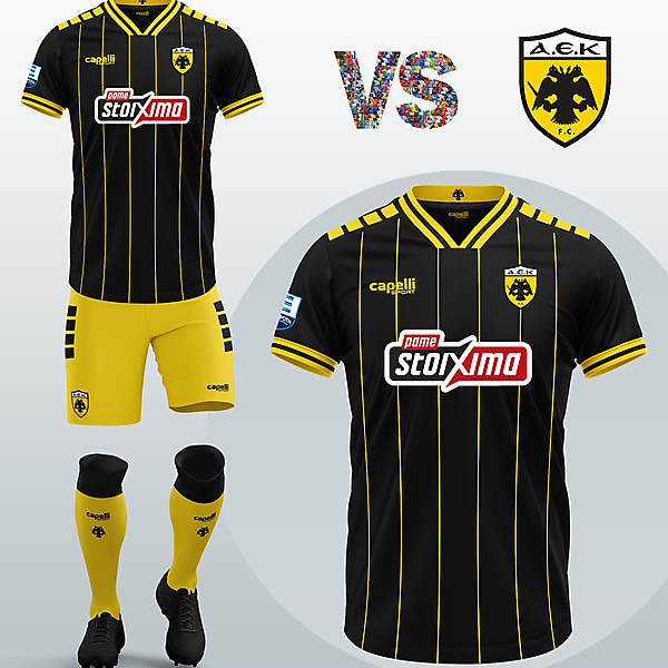 AEK Athens FC Third kit with Capelli Sport (Concept 2020/21)