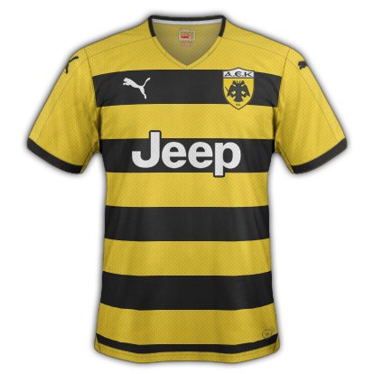 AEK Home kit for 2015/16 with Puma