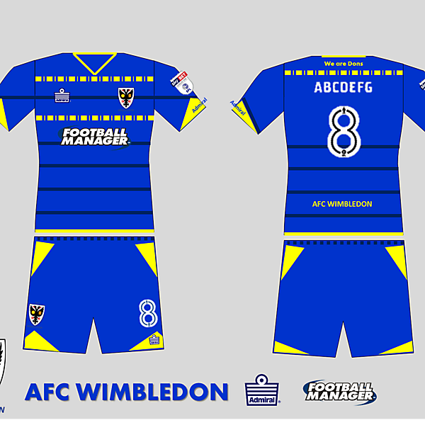AFC Wimbledon 2017 Home kit