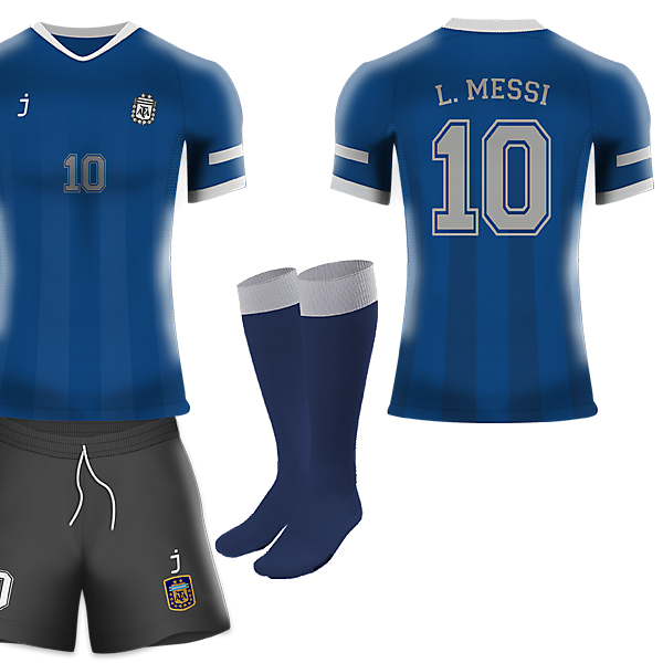 Argentina away kit by J-sports