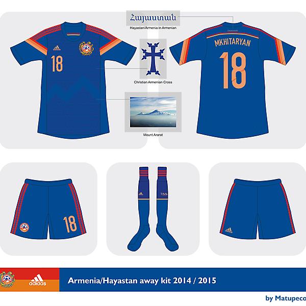 Armenia away kit 2014/2015
