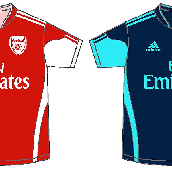 Arsenal - adidas home and away kits
